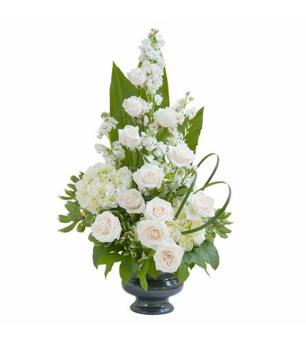 White Elegant Love Urn