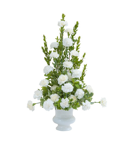 White Simple Love Urn