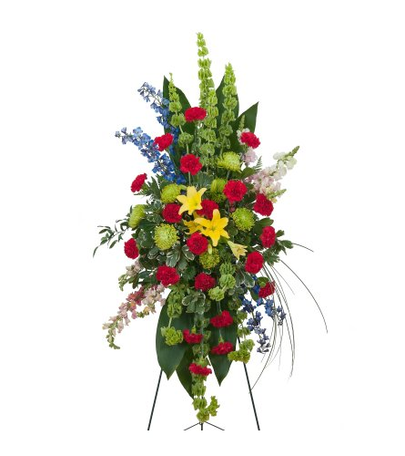 Colorful Treasured Celebration Standing Spray