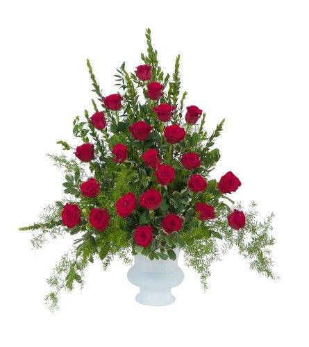 Royal Red Rose Urn