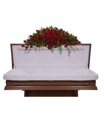 Royal Red Rose Casket Spray