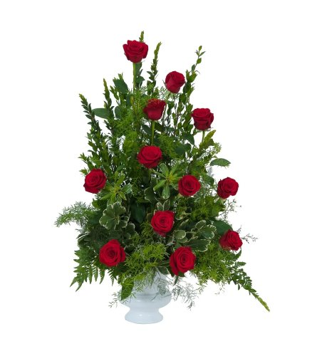 Royal Red Rose Dozen Urn