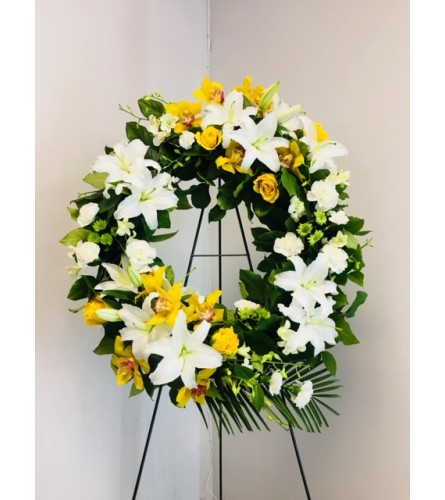 Best Wishes Funeral Wreath