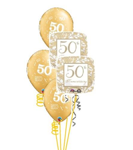 Fiftieth Anniversary Classic Balloon Bouquet