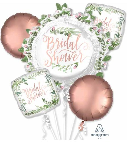 Love And Leaves Bridal Shower Super Fun Foil Balloon Bouquet