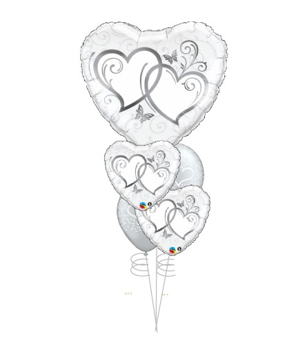Silver Love Cheerful Balloon Bouquet