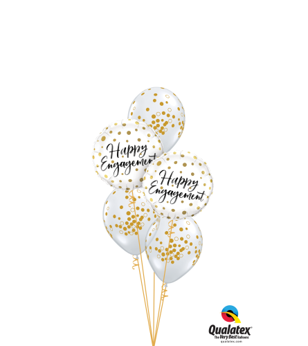 Happy Engagement Confetti Dots Classic Balloon Bouquet