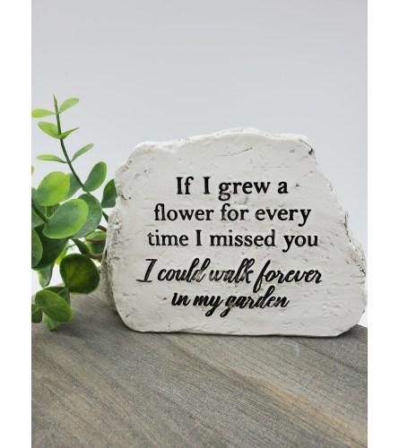 Walk in my Garden Sympathy Stone