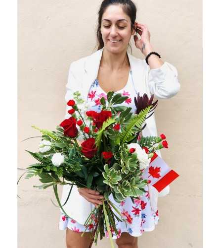 Canada Day Bouquet