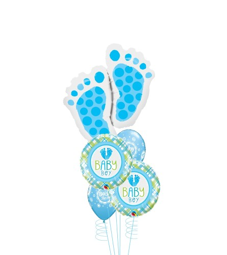 Pitter Patter Baby Boy Cheerful Balloon Bouquet