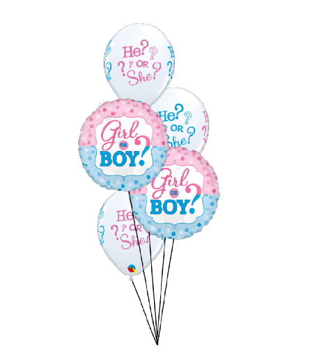 He or She? What Will It Be? Classic Balloon Bouquet
