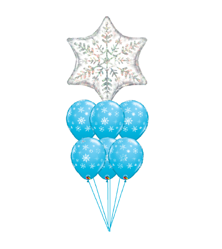 Winter Snowflake Fun Awesome Balloon Bouquet