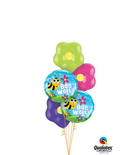 Get Well Soon Blossom Balloon Bouquet