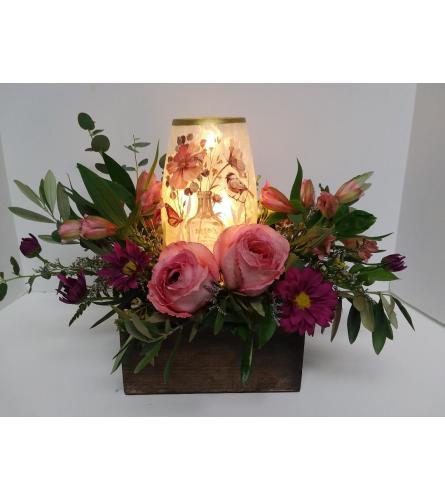 Floral Lamp Arrangement