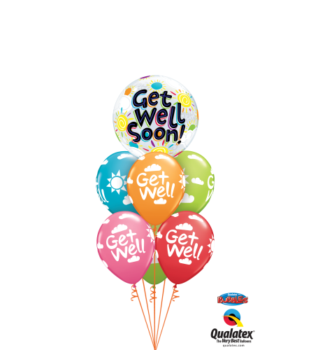 Get Well Soon Bubble Balloon Bouquet