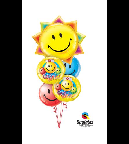 Get Well Sunshine Super Fun Foil Balloon Bouquet