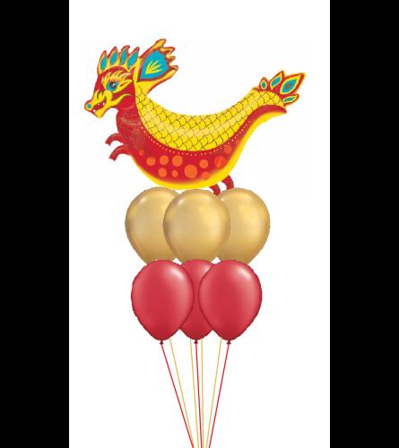 Lucky Dragon Awesome Balloon Bouquet