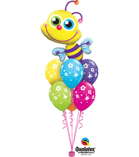 Beaming Bee Awesome Balloon Bouquet