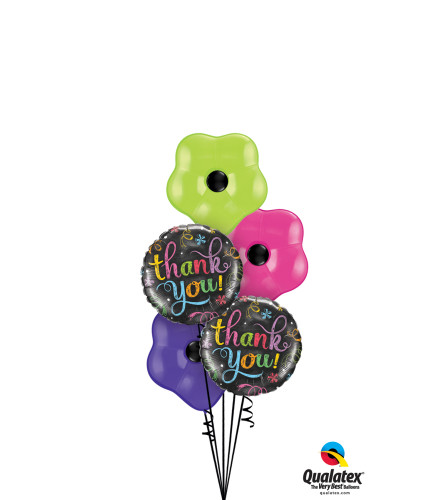 Thank You Flowers Blossom Balloon Bouquet