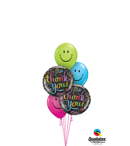 Thank You Smiley Classic Balloon Bouquet
