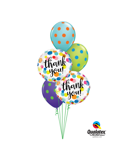 Thank You Dots Upon Dots Classic Balloon Bouquet
