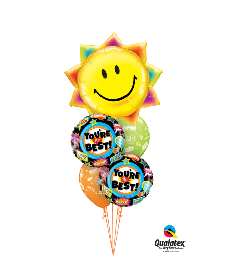 You're the Best Cheerful Balloon Bouquet