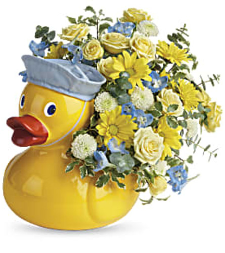 Ducky Delight for Boy from Teleflora by Bow River Flower Atelier