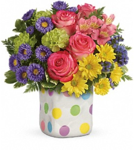 Happy Dots Bouquet by Teleflora at Bow River Flower Atelier