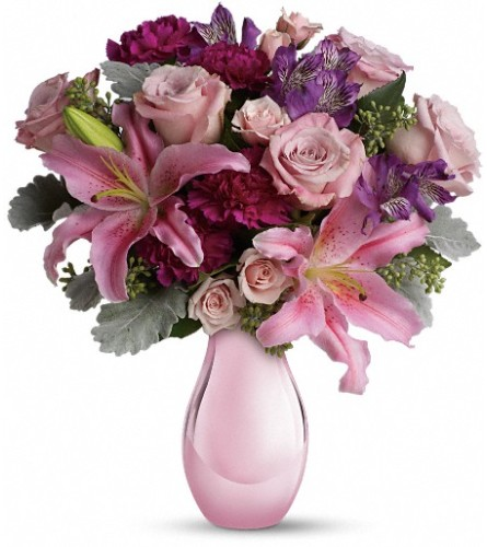 Enchanting Pinks by Teleflora at Bow River Flower Atelier