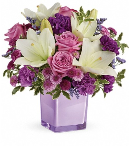 Pleasing Purple Bouquet by Teleflora at Bow River Flower Atelier