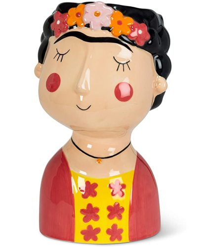 Frida Kahlo Flower Pot (lrg)