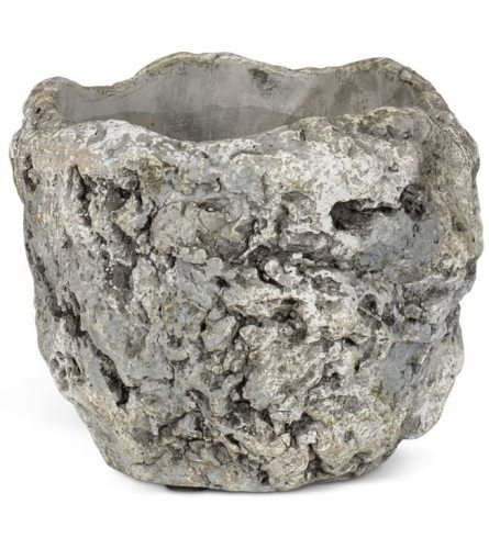 Grey Ceramic Rock Planter