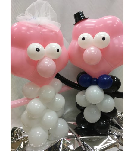 Bride & Groom Balloon Buddy Duo