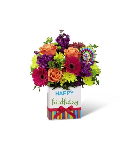 The Birthday Brights™ Bouquet by FTD at Bow River Flower Atelier