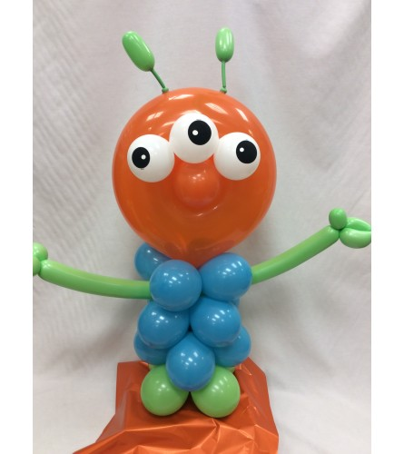Three Eyed Monster Balloon Buddy