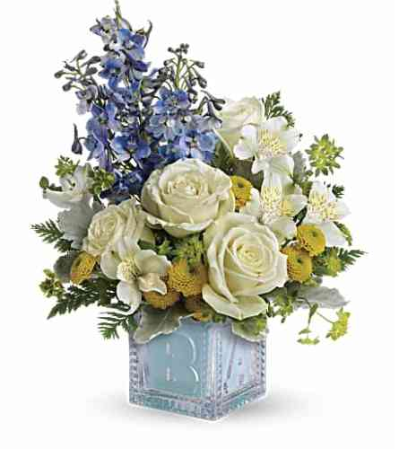 Teleflora's Welcome Little One Bouquet at Bow River Flower Atelie