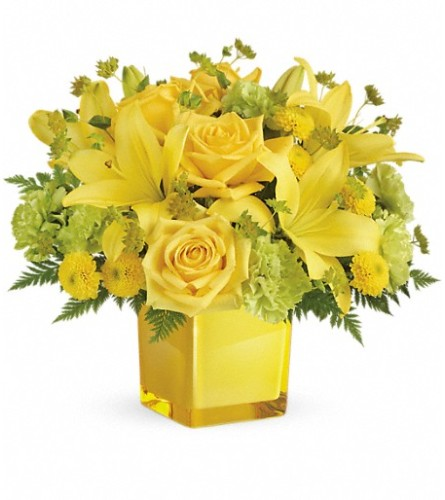 Teleflora's Sunny Mood Bouquet at Bow River Flower Atelier
