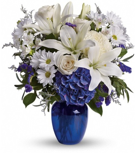 Beautiful in Blue Bouquet by Teleflora at Bow River Flower Atelie