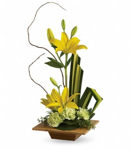 Teleflora's  Bamboo Artistry at Bow River Flower Atelier