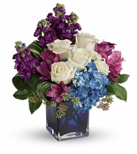 Teleflora's Portrait In Purple Bouquet by Bow River Flower Atelie