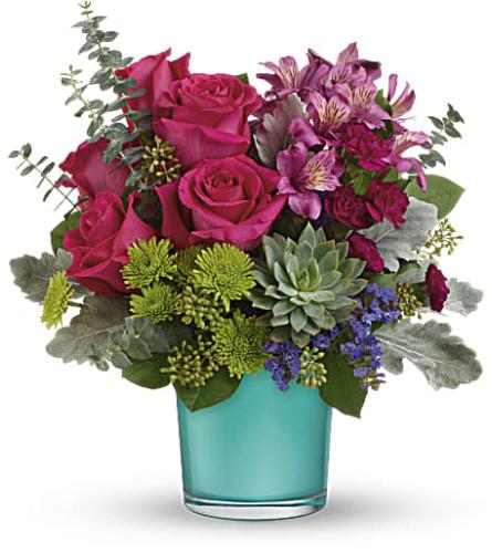 Teleflora's Purple Serenity Bouquet at Bow River Flower Atelier