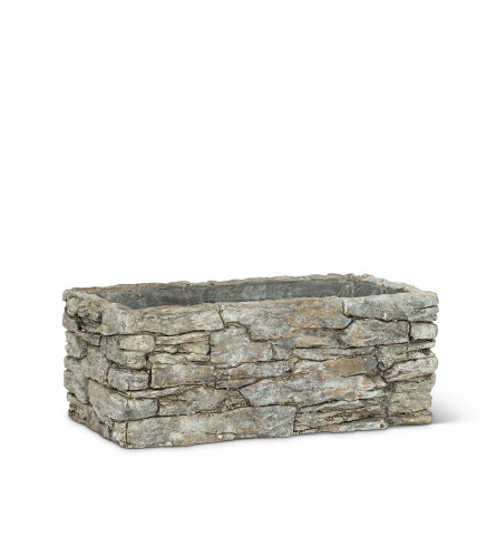 Rectangle Stack Stone Planter