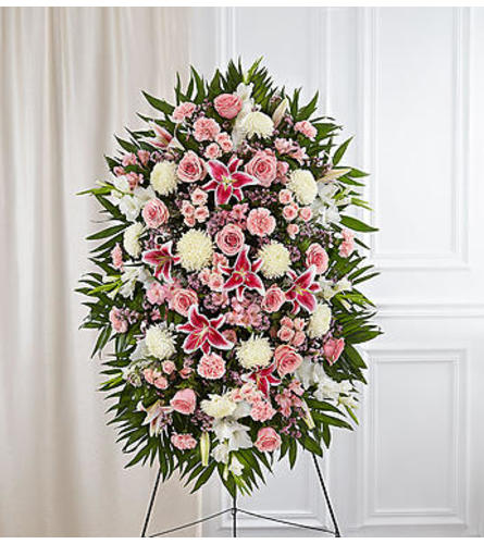 Elegant Pink and White Standing Spray