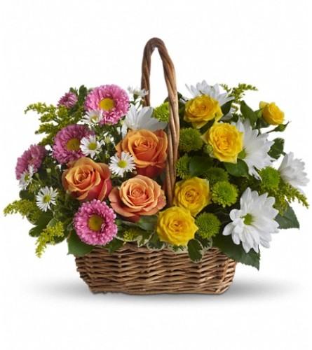 Blooming Garden Basket - Teleflora by Bow River Flower Atelier