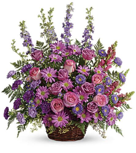 Gracious Lavender Basket Teleflora at Bow River Flower Atelier