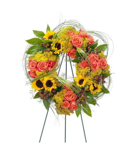 Heavenly Sunset Sympathy Wreath