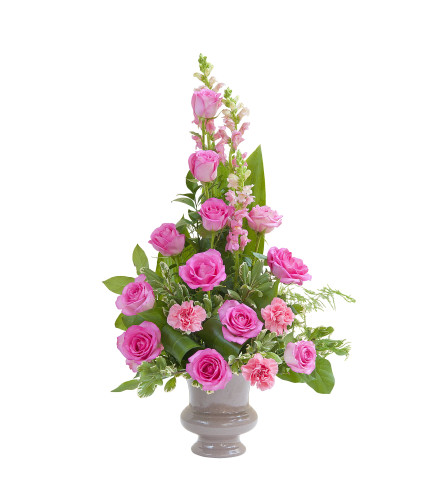 Peacefully Pink Small Urn