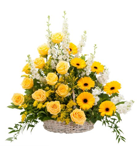 Ray of Sunshine Basket Sympathy Tribute