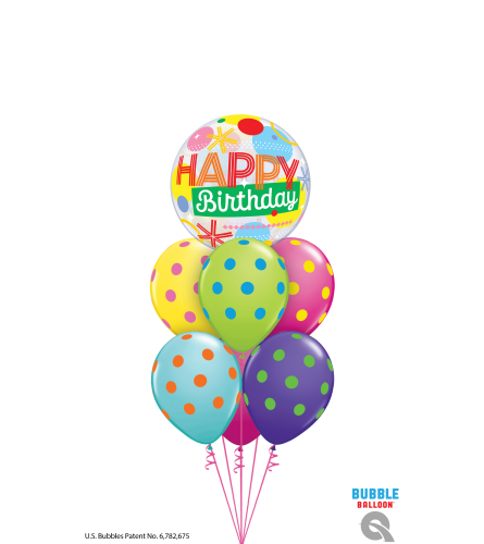 Another Year Brighter Bubble Balloon Bouquet