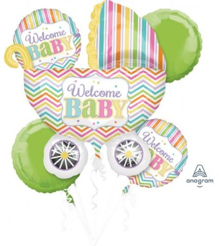 Ellington's Welcome Baby Balloon Bouquet